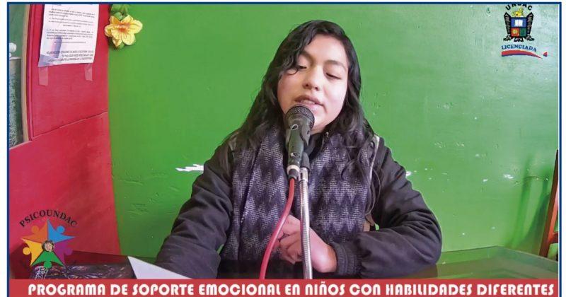 PROYECTO DE TUTORÍA PARA EL SOPORTE EMOCIONAL EN NIÑOS CON HABILIDADES DIFERENTES ESTRENA PROGRAMA RADIAL