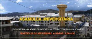 Asamblea Universitaria a sesión extraordinaria N° 06-2020