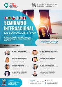 ORGANIZAN SEMINARIO INTERNACIONAL DE EDUCACIÓN FÍSICA 2020