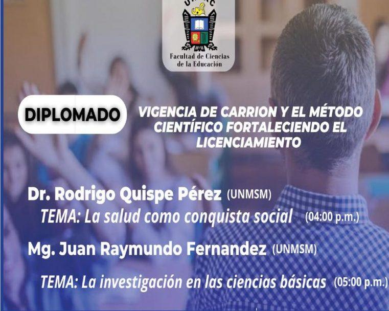 CON ÉXITO LA FACULTAD DE CIENCIAS DE LA EDUCACIÓN DE LA  UNDAC DESARROLLA DOS DIPLOMADOS