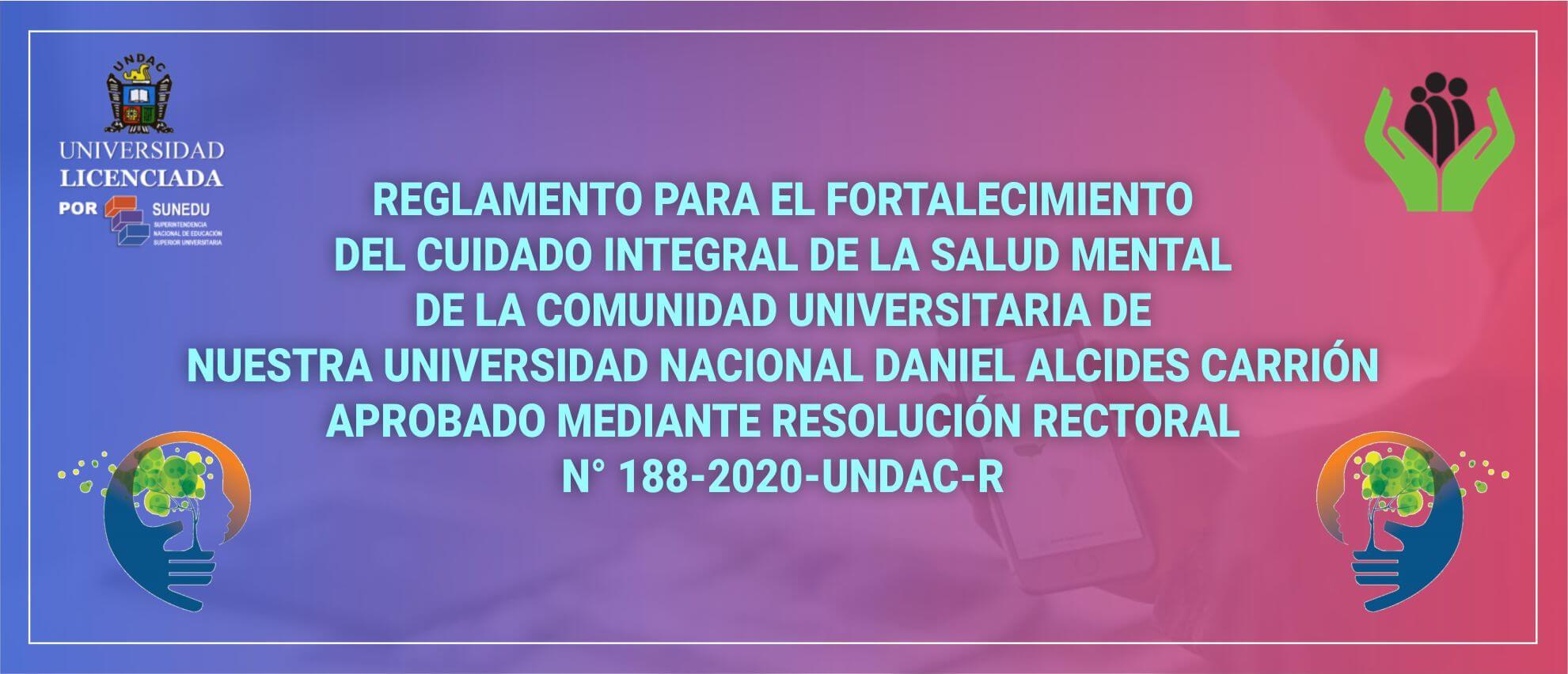 RESOLUCION RECTORAL N° 188-2020-UNDAC-R