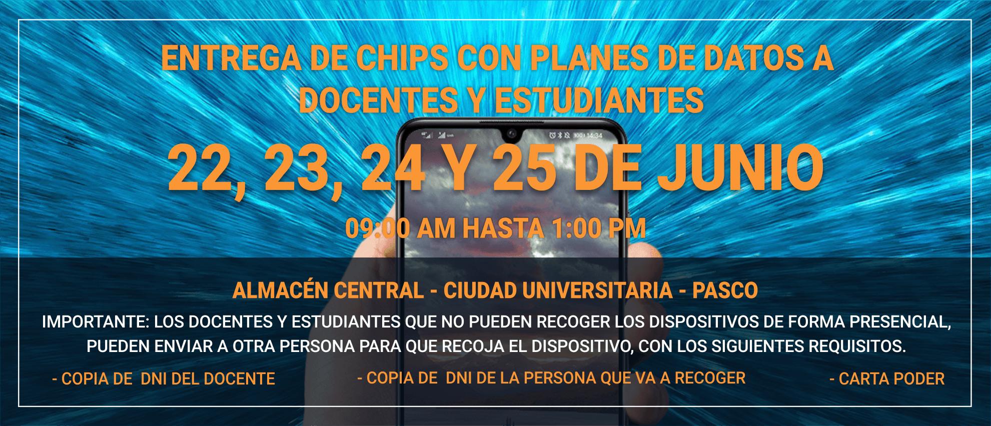 ENTREGA DE CHIPS CON PLANES DE DATOS A DOCENTES Y ESTUDIANTES